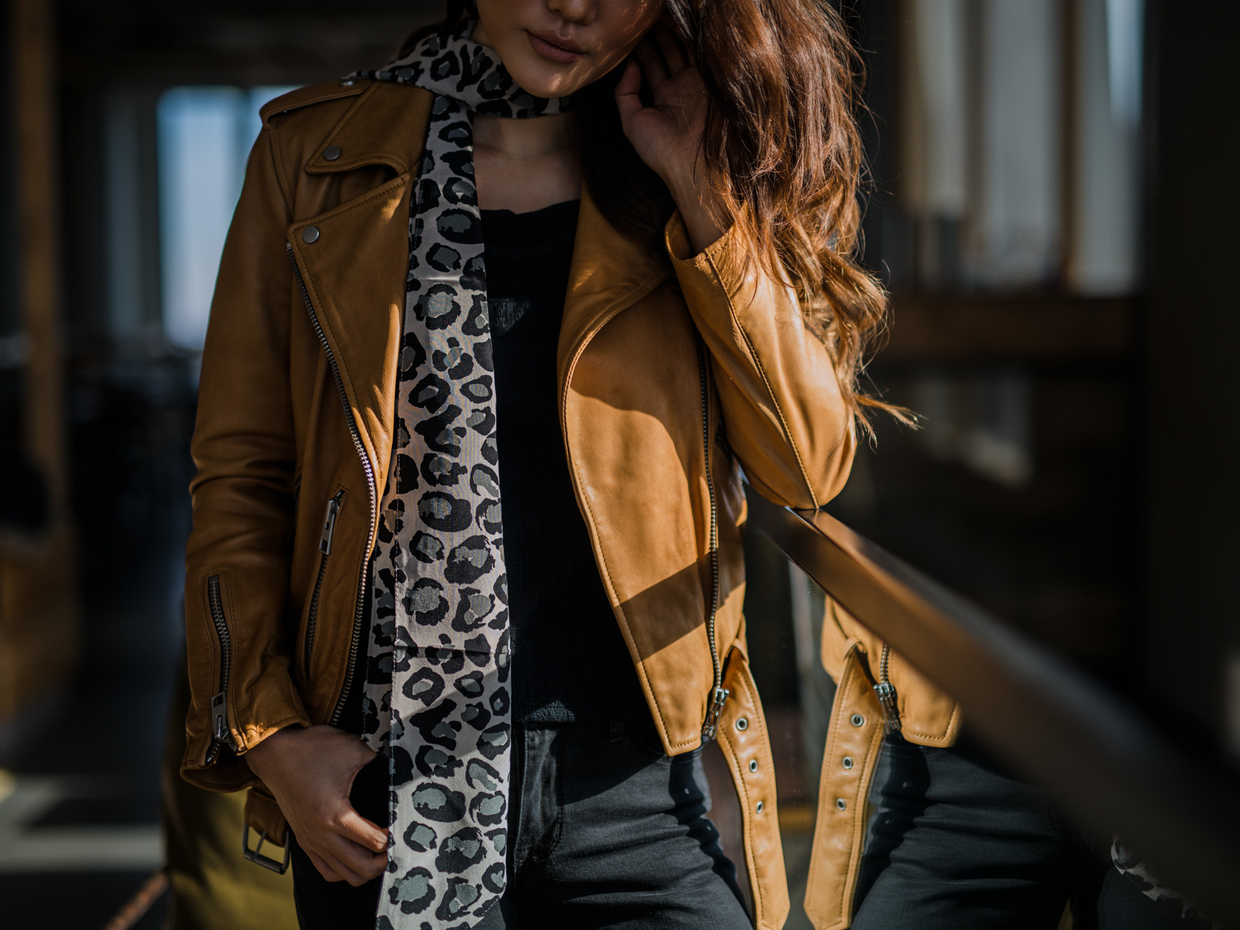 How to Elevate an Outfit Immediately - leopard, camel, leather jacket // Notjessfashion.com