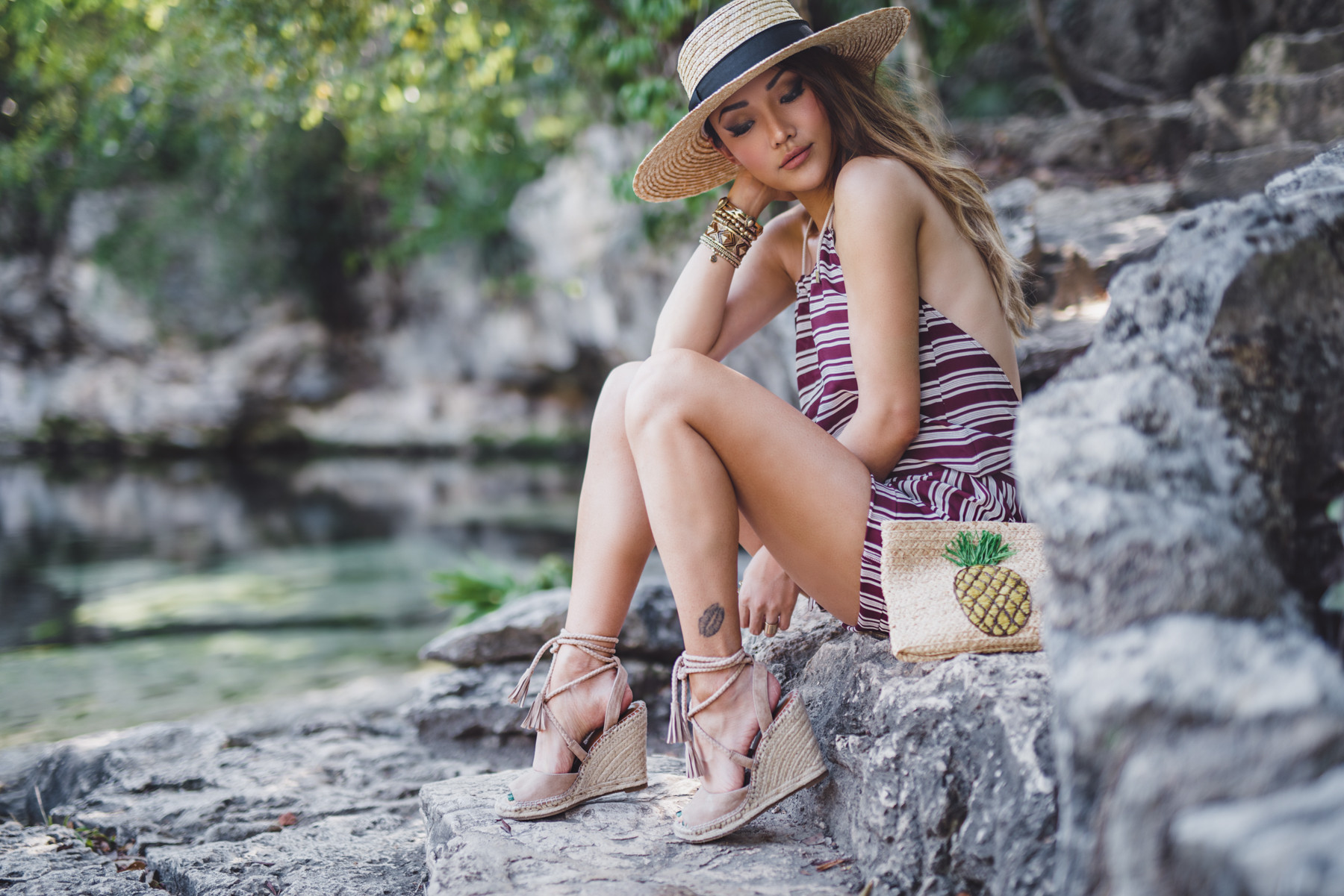 Rompers and Espadrilels - Platform Espadrilles For Effortless Summer Style // NotJessFashion.com