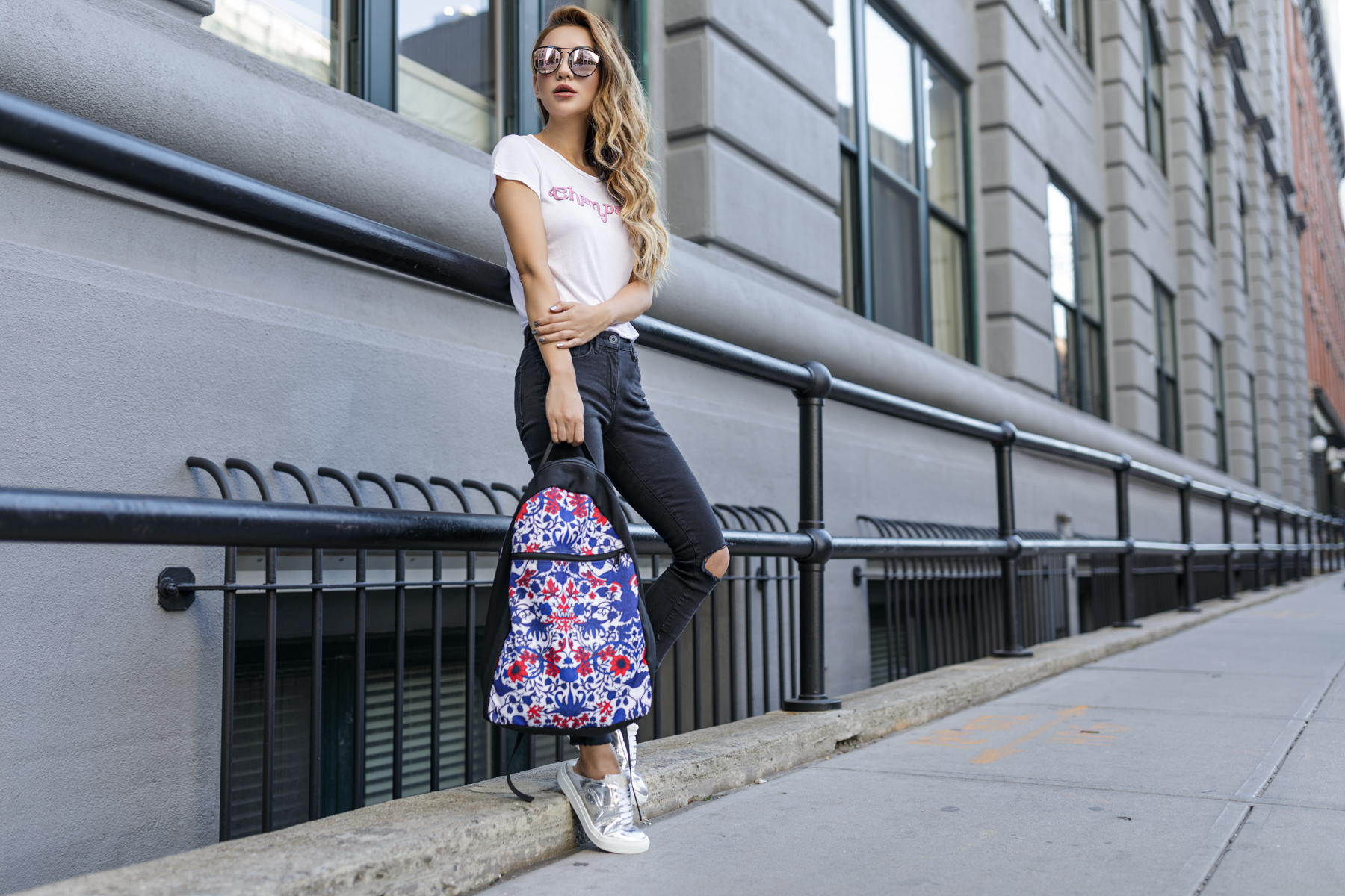 eBay, Backpack, Exclusive, Floral Paisley Print, Rachel Zoe, NOTJESSFASHION, NYC, Top Fashion Blogger, Lifestyle Blogger, Travel Blogger