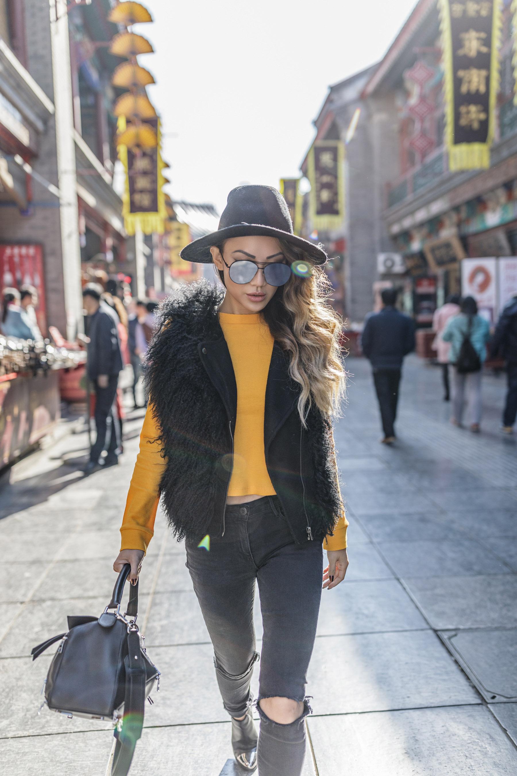 Faux Fur Vest Winter Outfits // NotJessFashion.com