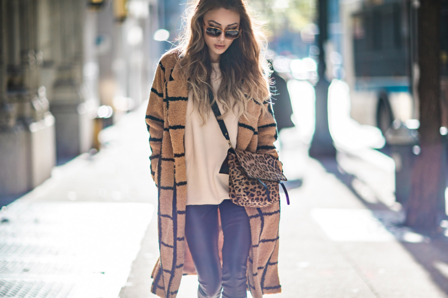 Teddy Bear Coat Winter Outfits // NotJessFashion.com