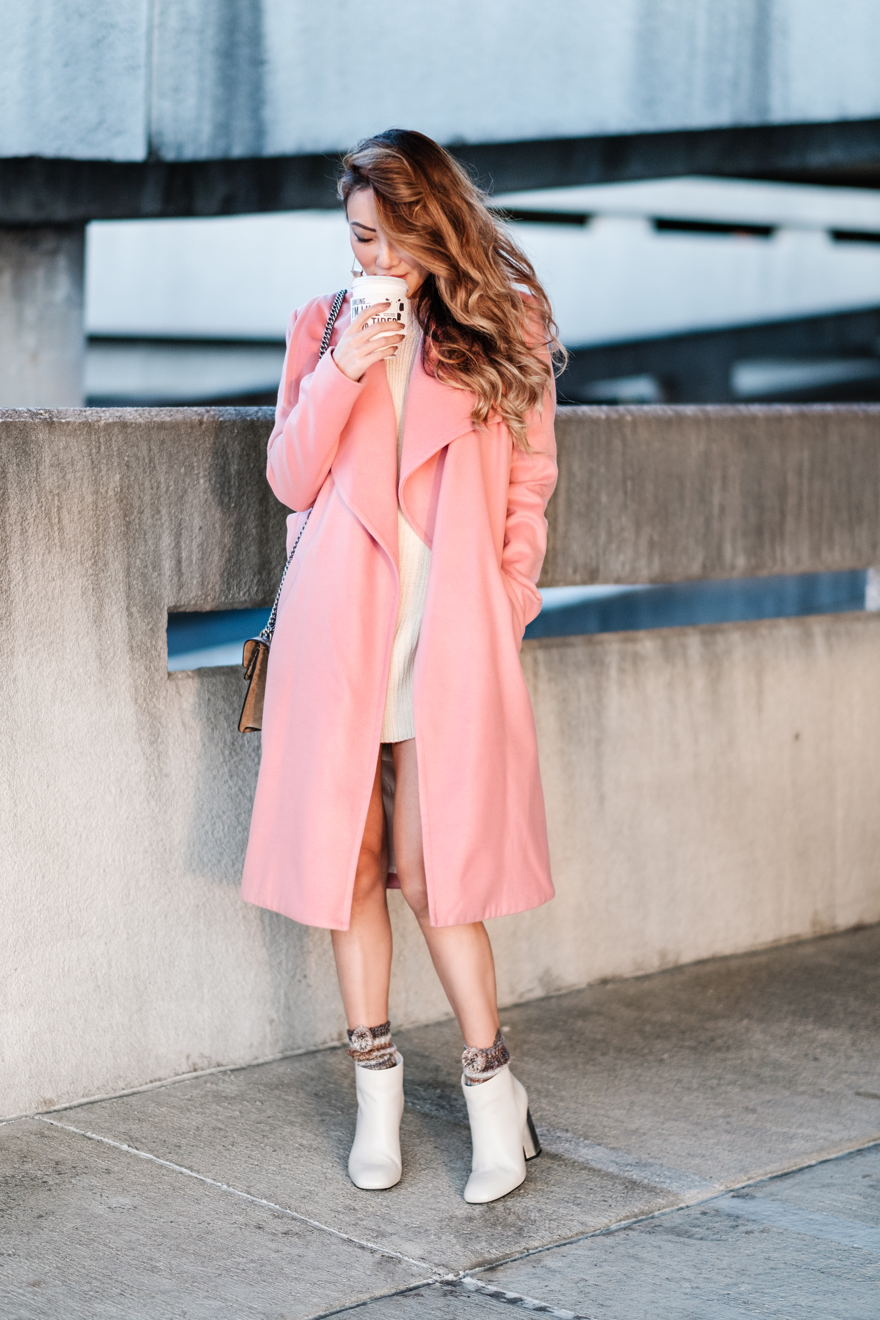 How To Style A Pink Coat // NotJessFashion.com