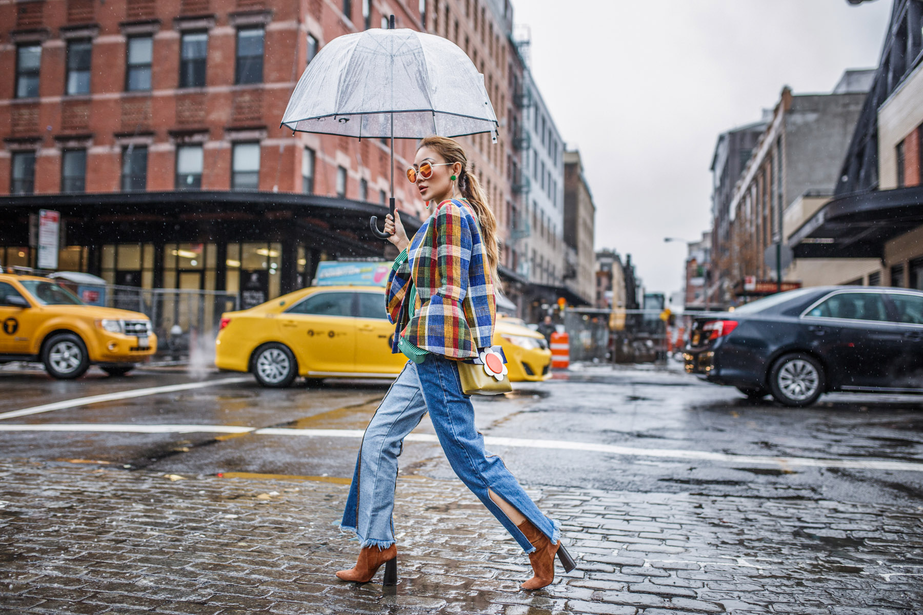 6 Crucial Tips for Surviving Fashion Week // NotJessFashion.com // 70s Look Suno Plaid Jacket Zara Suede Booties