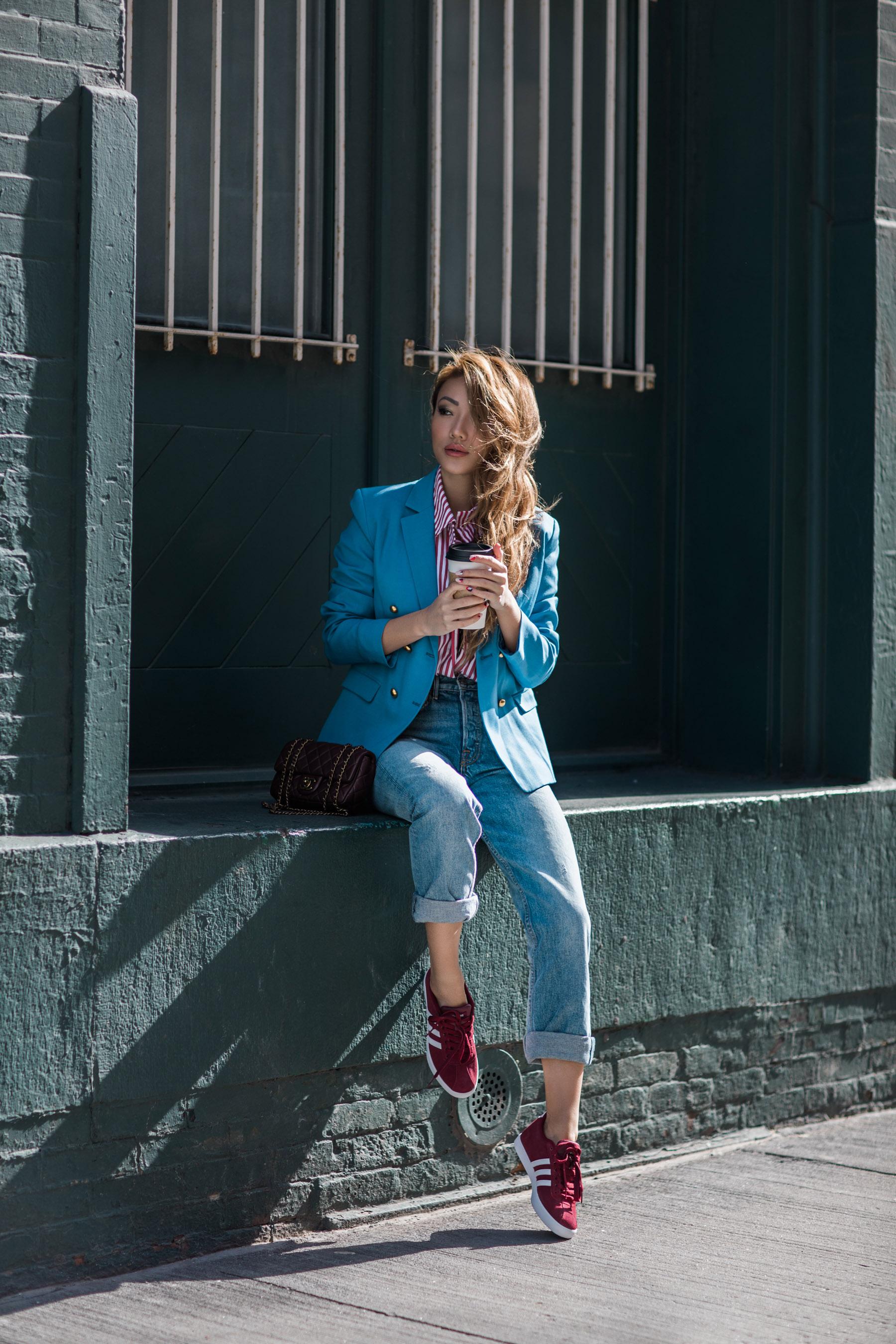 Athleisure Trend - Adidas NEO Courtset Sneaker Womens // NotJessFashion.com