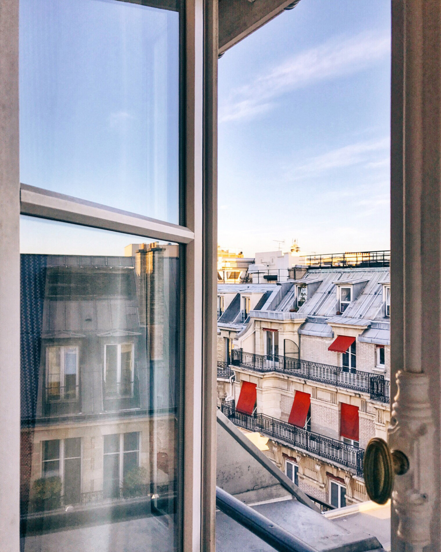 Paris morning through the window of Hotel Vernet // NotJessFashion