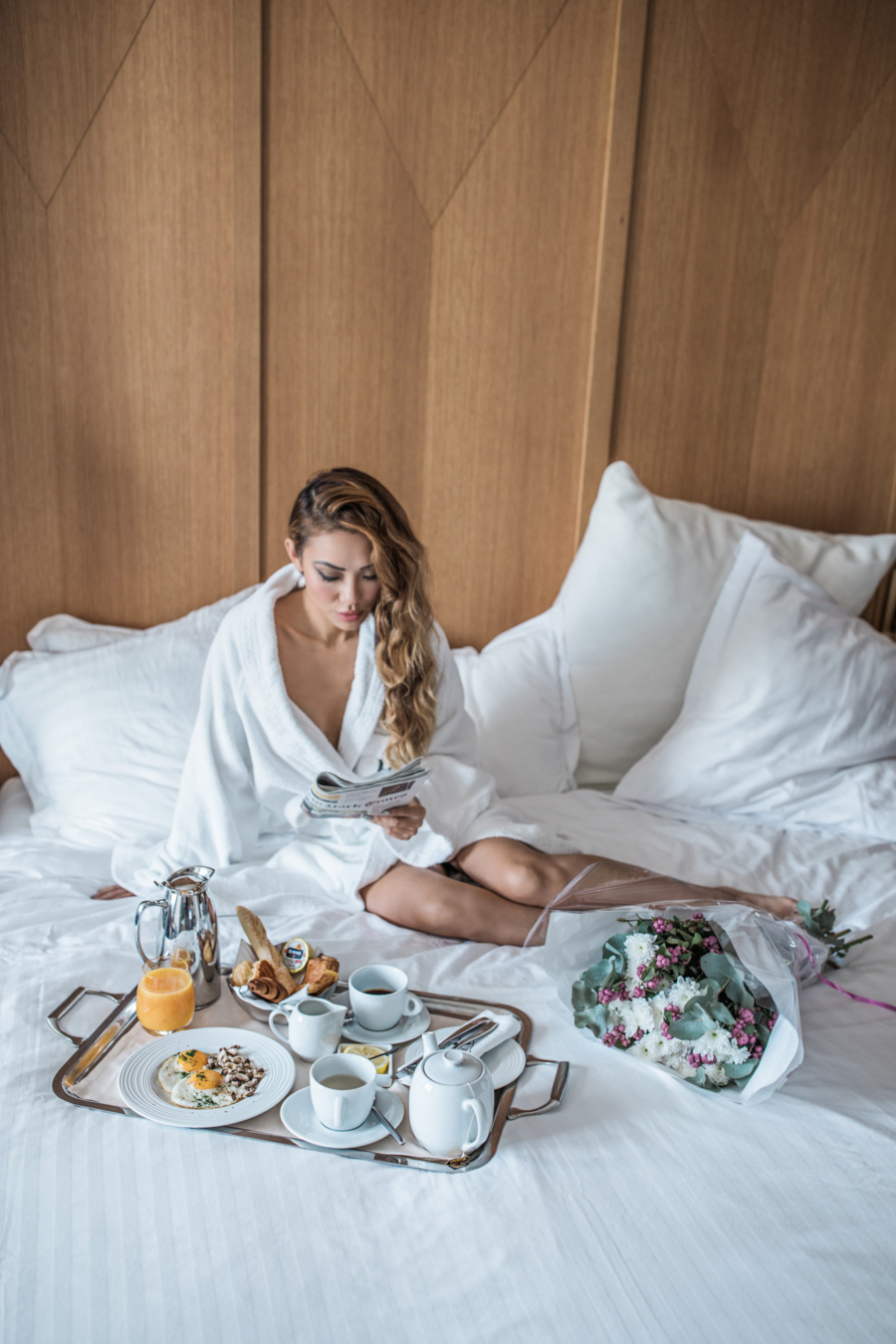 Breakfast in Bed, Hotel Vernet, Paris, France // NotJessFashion.com