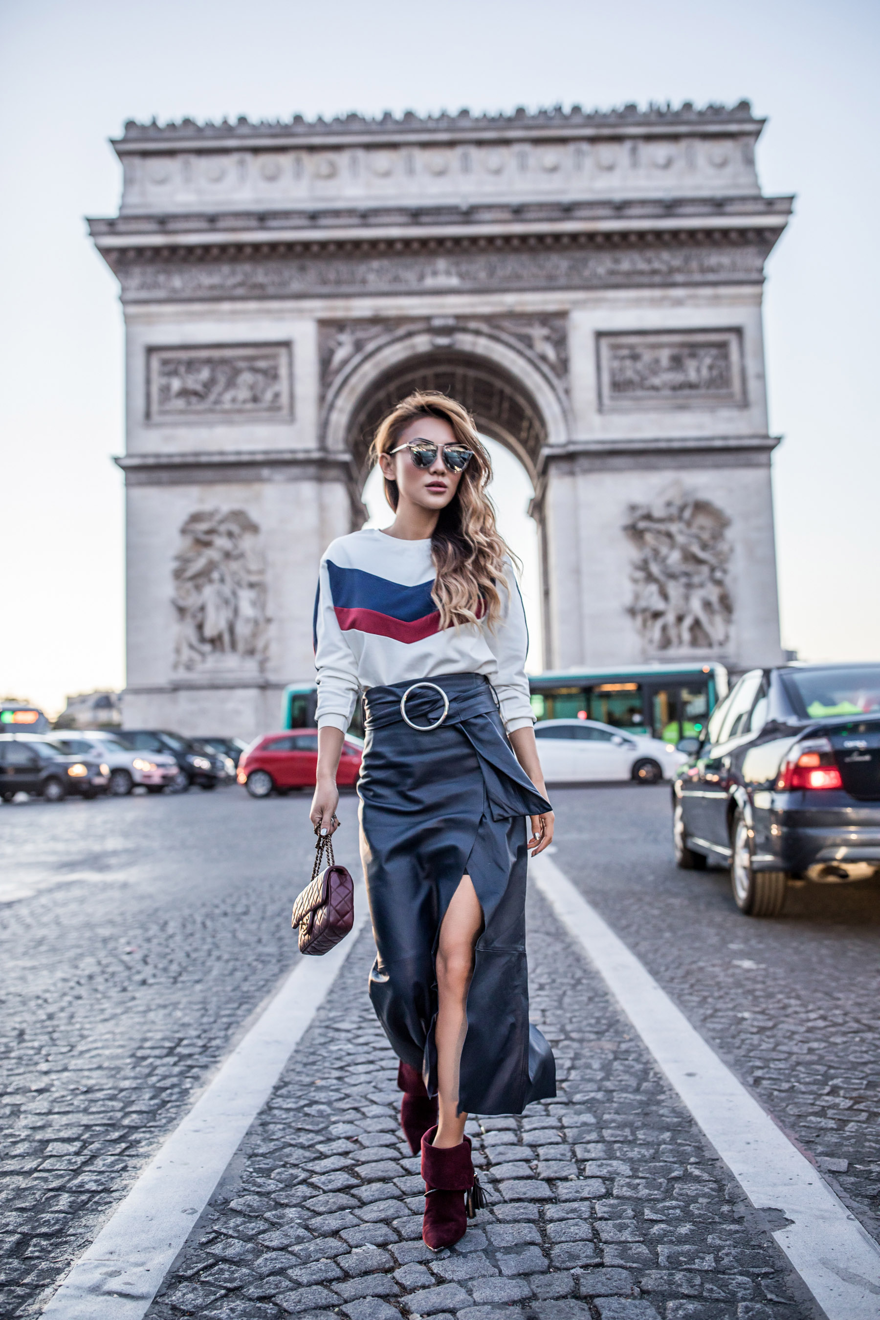 High-waisted leather max skirt // NotJessFashion.com