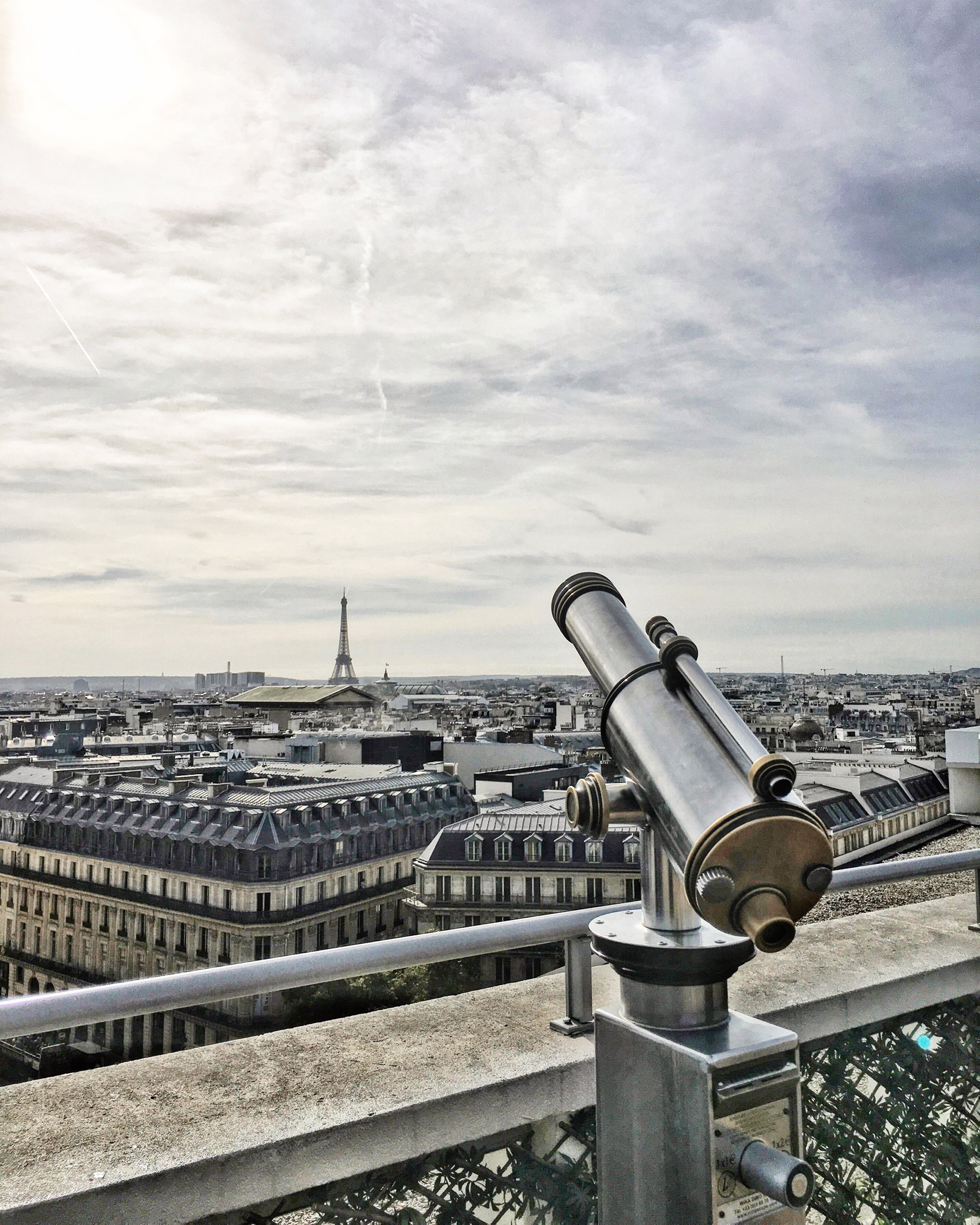 view from rooftop galeries lafayette haussmann paris notjessfashion. Black Bedroom Furniture Sets. Home Design Ideas
