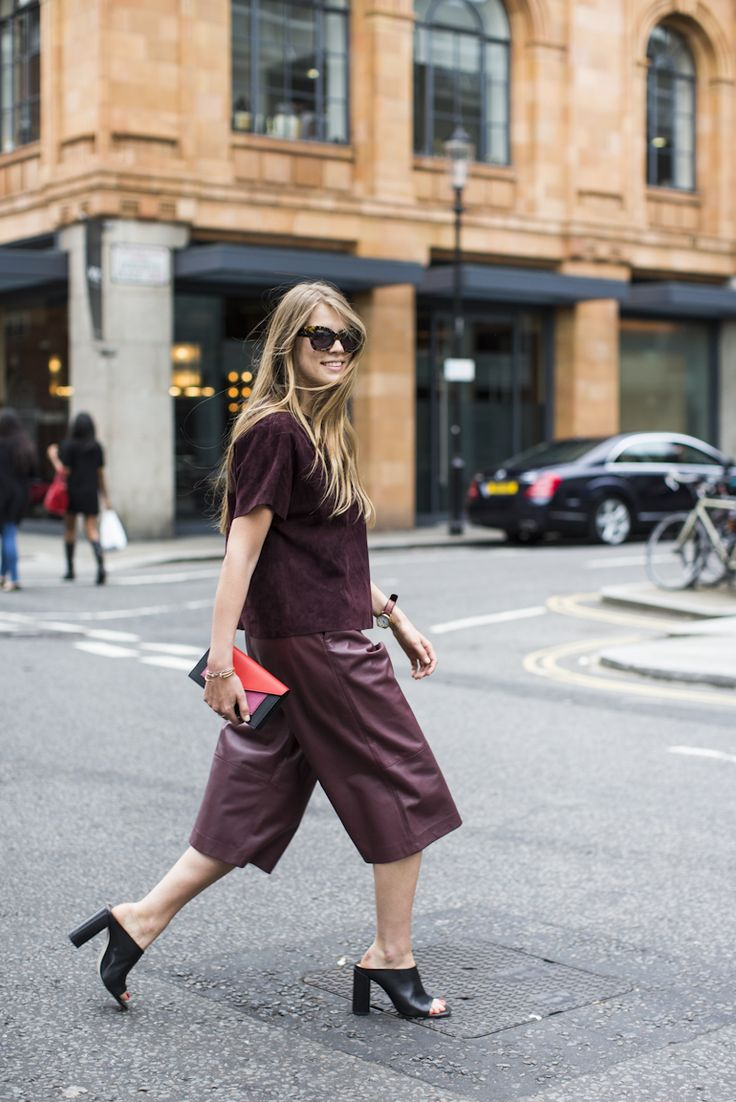 Pleather Maroon Culottes - 5 Styles of Culottes That Proves They're For Everyone // NotJessFashion.com