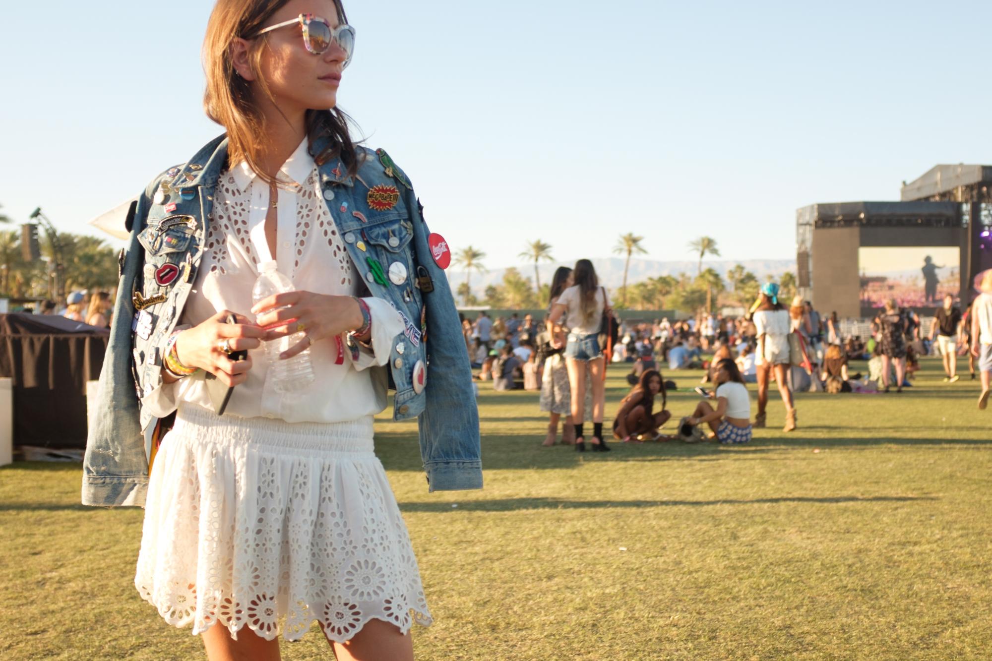 Spring Transitional Jackets - Cropped Denim Jacket at Coachella // NotJessFashion.com