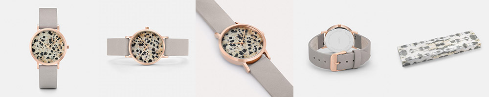 Cluse Watch, La Roche Petite Rose Gold Dalmatian/Grey // NotJessFashion.com