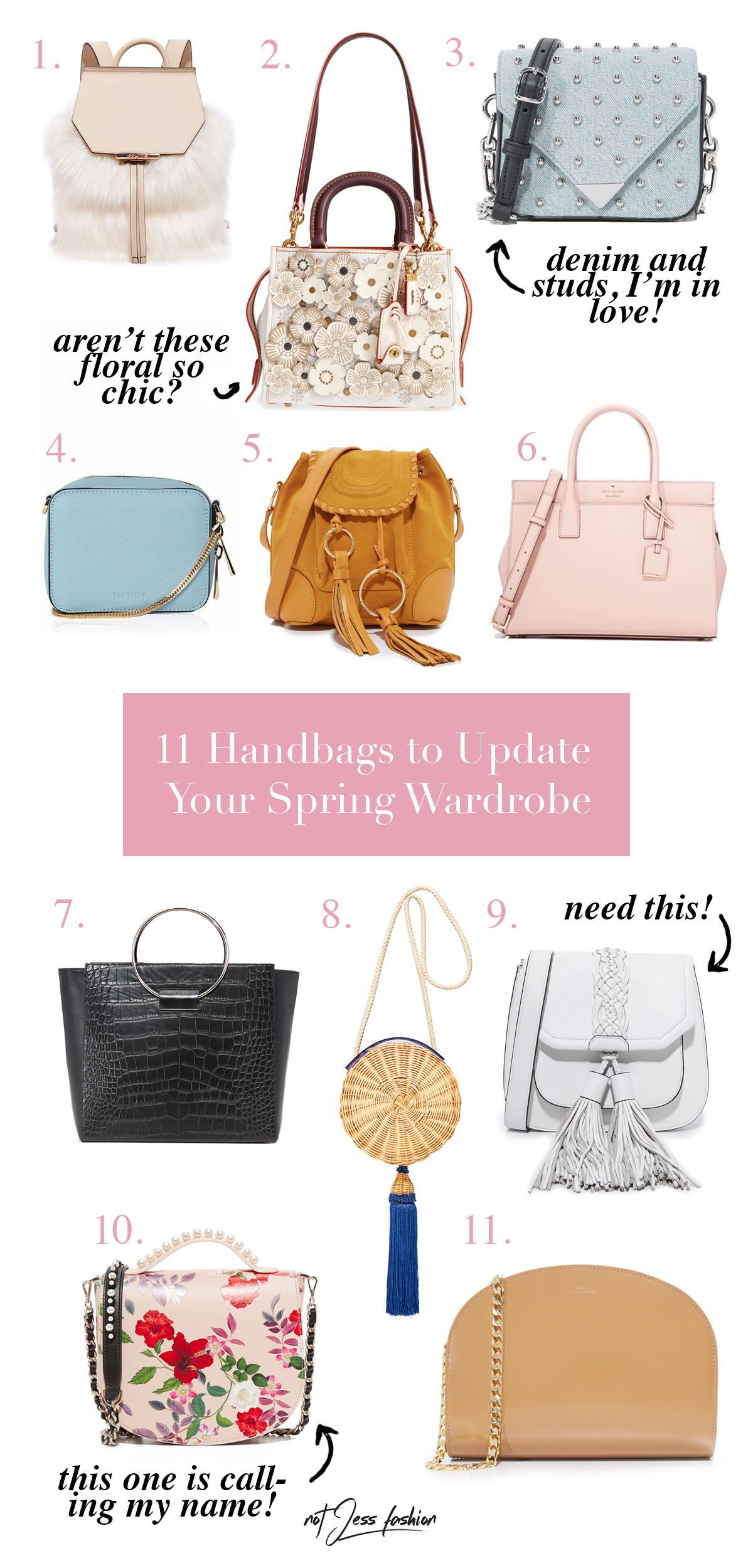 11 Spring Handbags to Update Your Wardrobe // NotJessFashion.com