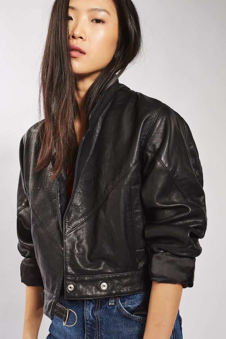 A cut above. H by Halston brings a little something extra to this trend-forward perforated leather jacket. The chic cropped length makes it so easy to wear over just about anything and the eye-catching laser-cut leather gives it a completely of-the-moment update/5(21).