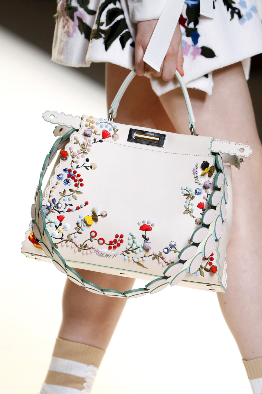 Floral Embroidered Satchel - Petite Girl Styling Dos and Don'ts // NotJessFashion.com