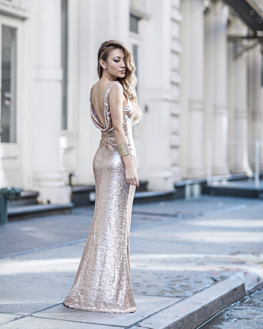 How to pick the perfect wedding dress, sequin gown // Notjessfashion.com