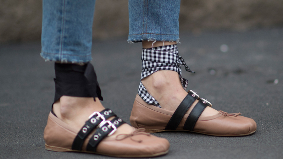 Ballet Laced Up Flats Shoes For Spring - These Are The 7 Must Have Styles Of Shoe For Spring // Notjessfashion.com