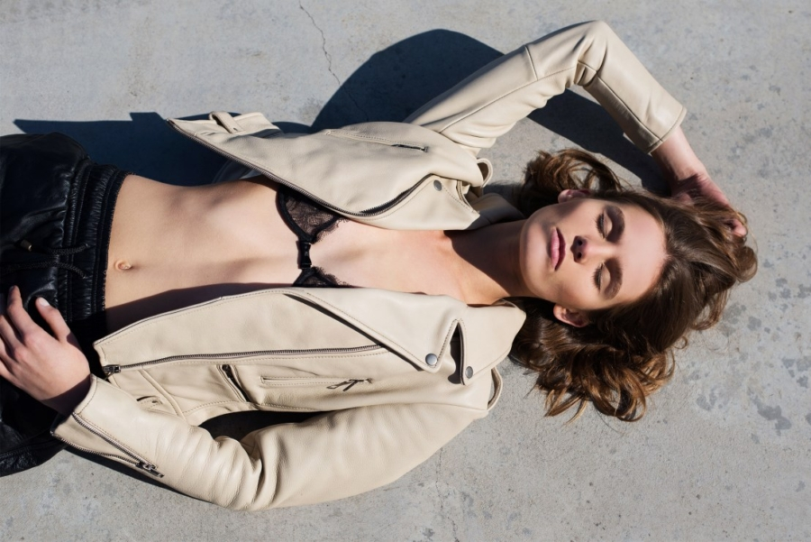 Beige/nude Leather Jacket - 9 Leather Jacket Styles You'll Be Seeing All Spring // Notjessfashion.com