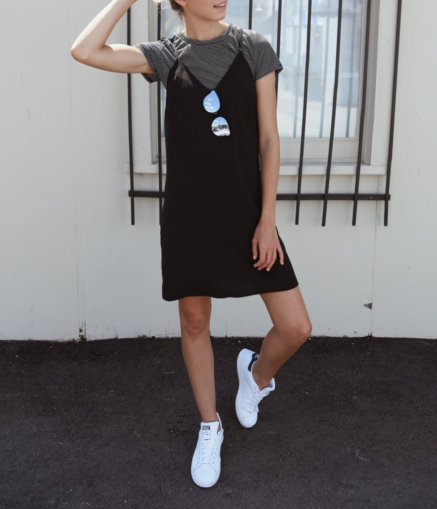 Boxy T Shirt and Slip Dress - Ultra Chic On-The-Go Styles For Every Girl // NotJessFashion.com