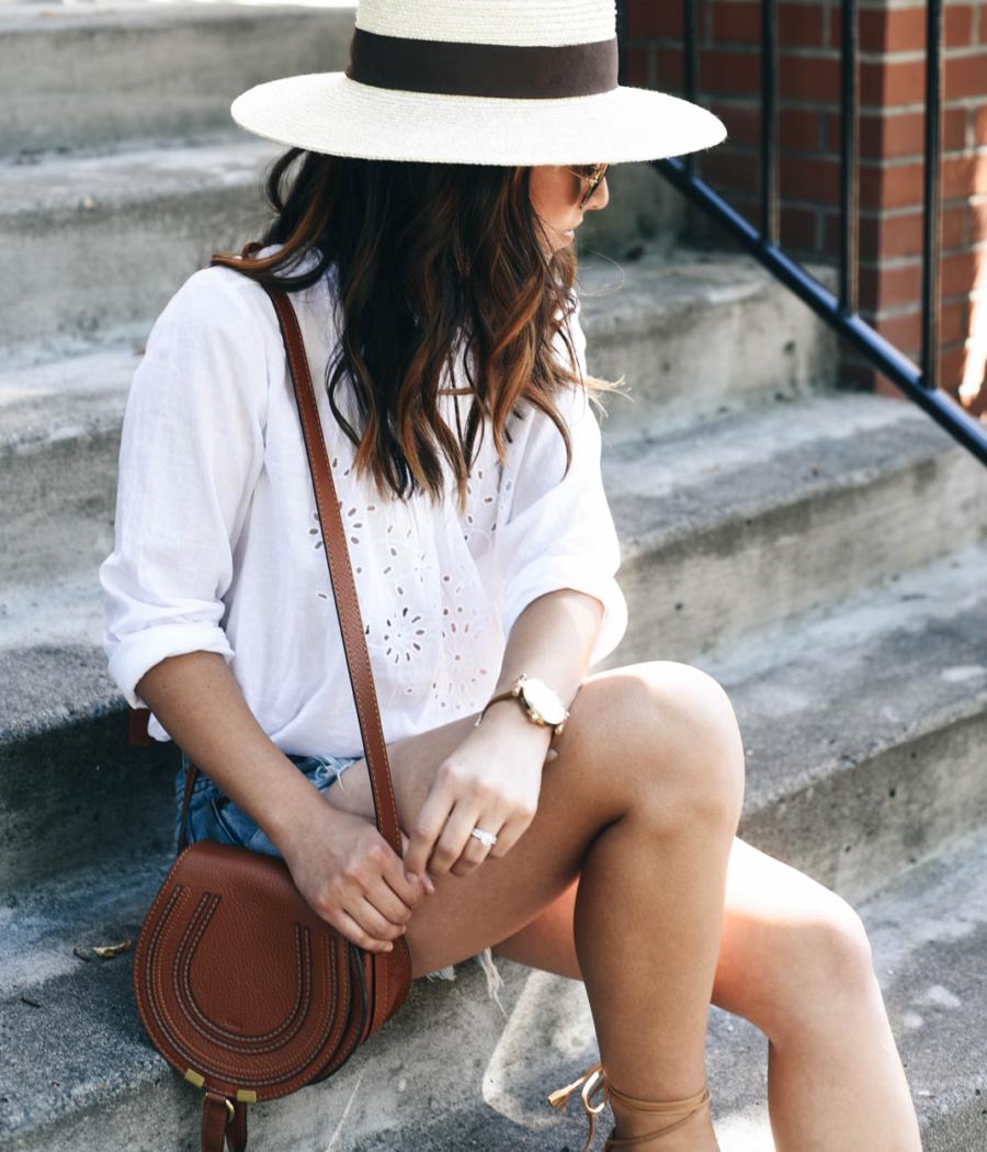 Eyelet Lace Top - 10 Key Spring and Summer Wardrobe Essentials // NotJessFashion.com