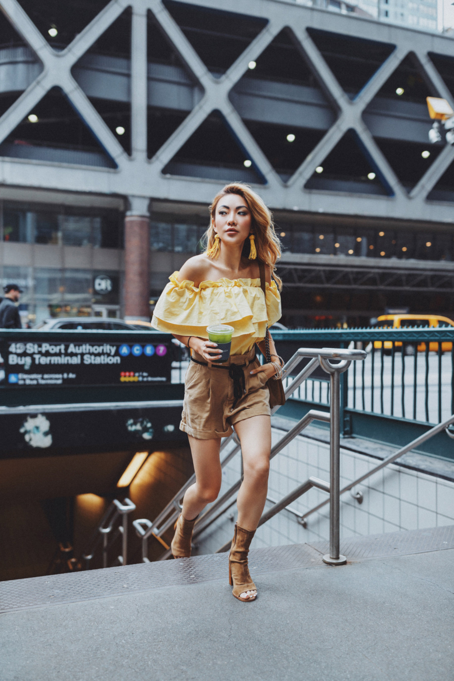 Yellow New York Street Style - The Garment District Comes to Life Again // Notjessfashion.com