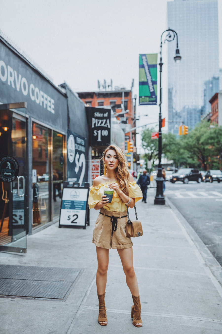 Yellow Top and Brown Tony Bianco Boots - The Garment District Comes to Life Again // Notjessfashion.com