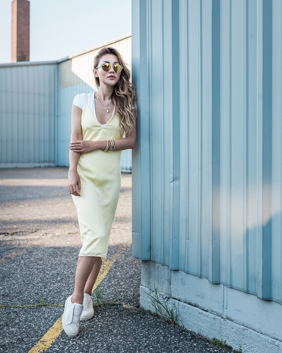 Slip Dress and T Shirt - Ultra Chic On-The-Go Styles For Every Girl // NotJessFashion.com