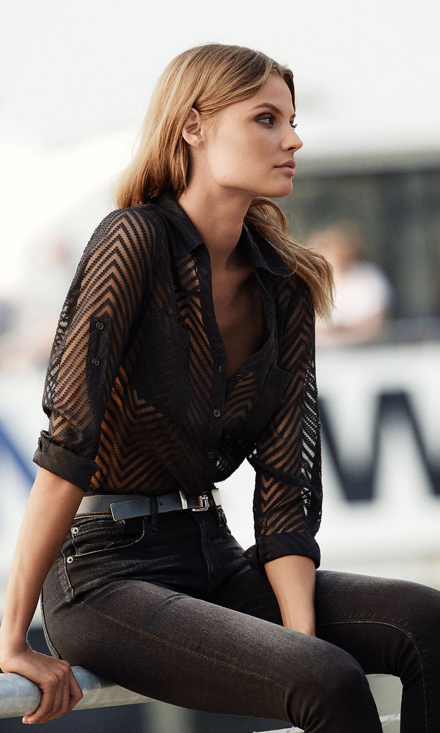 Sheer Stripes - Tackling Sheer Style Trends For Spring and Summer // Notjessfashion.com