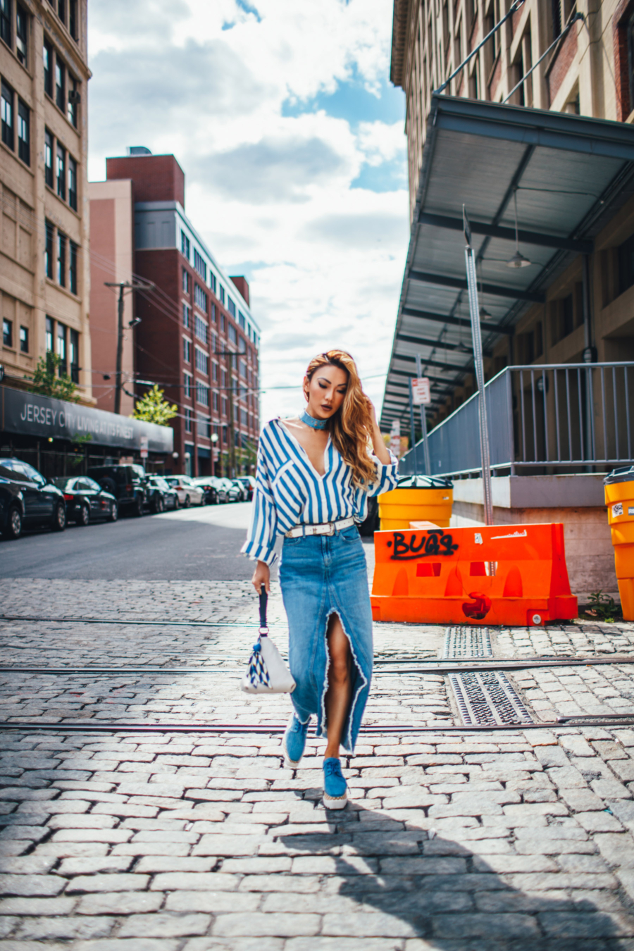 Denim Streetstyle - The Essential Guide to Pulling Off Summer Stripes // NotJessFashion.com