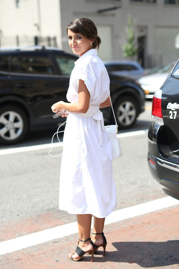 White Shirt Dress - Off Duty Style Outfits Cool Girls Swear By // NotJessFashion.com