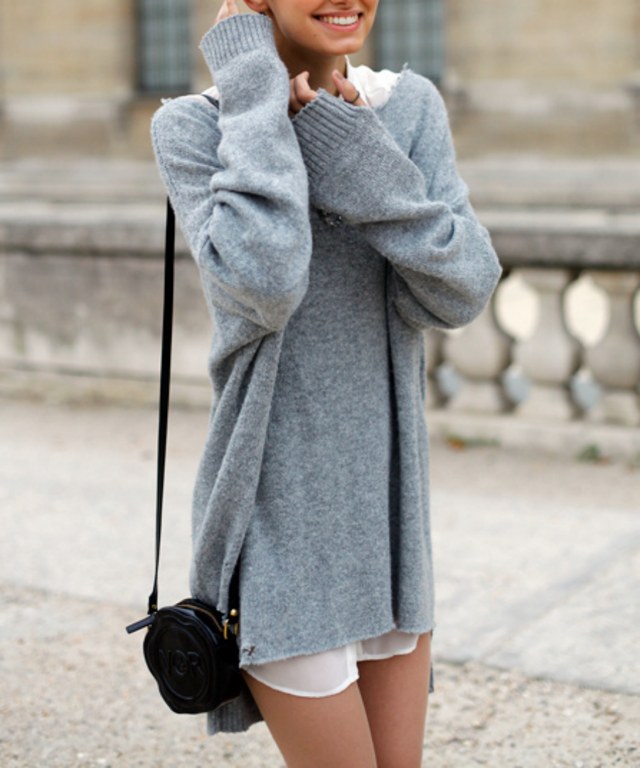 Oversized Knit Layers - Off Duty Style Outfits Cool Girls Swear By // NotJessFashion.com