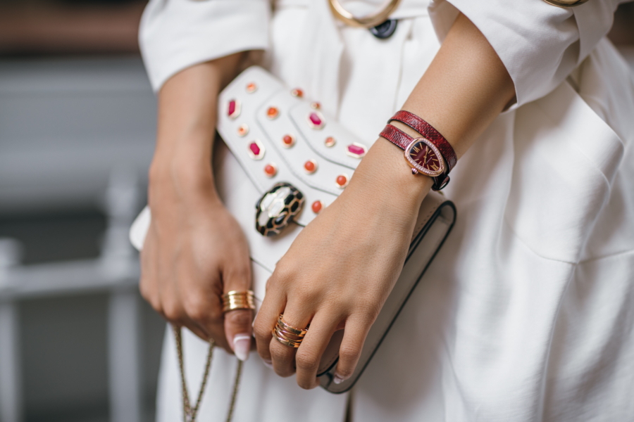 Bulgari Serpenti Collection Bag and Watch - One Serpenti Watch, Three Outfits // NotJessFashion.com