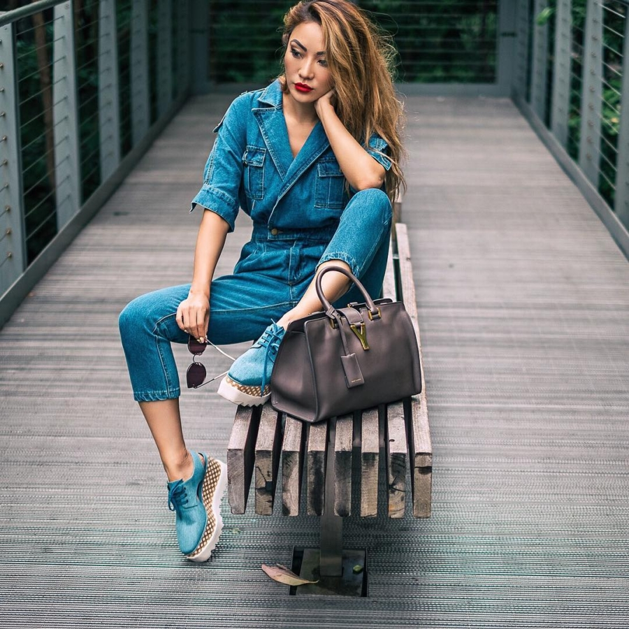 Denim Jumpsuits - Instagram Roundup: Summer Outfits That Will Make You Look And Feel Cool // NotJessFashion.com