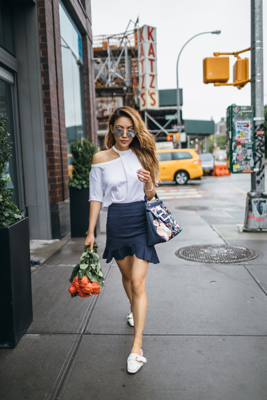 White Tee and Ruffle Skirt - How To Remove Your Makeup The Right Way // NotJessFashion.com