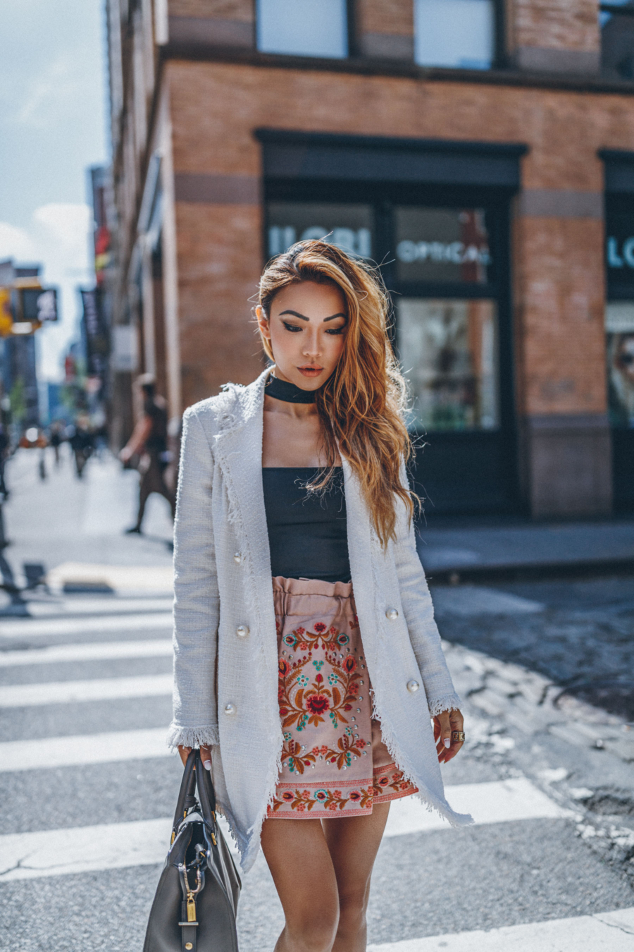 Floral Embroidery Skirt - Different Ways To Wear Floral Embroidery To Perfection // NotJessFashion.com
