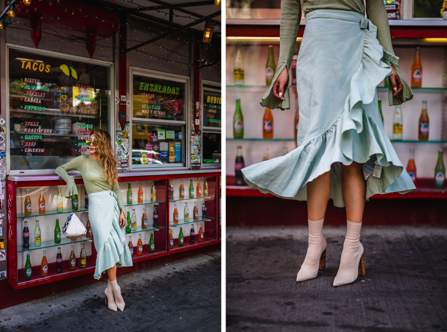 Ruffle Skirt At The Corner - In My Uber, On My Way // NotJessFashion.com