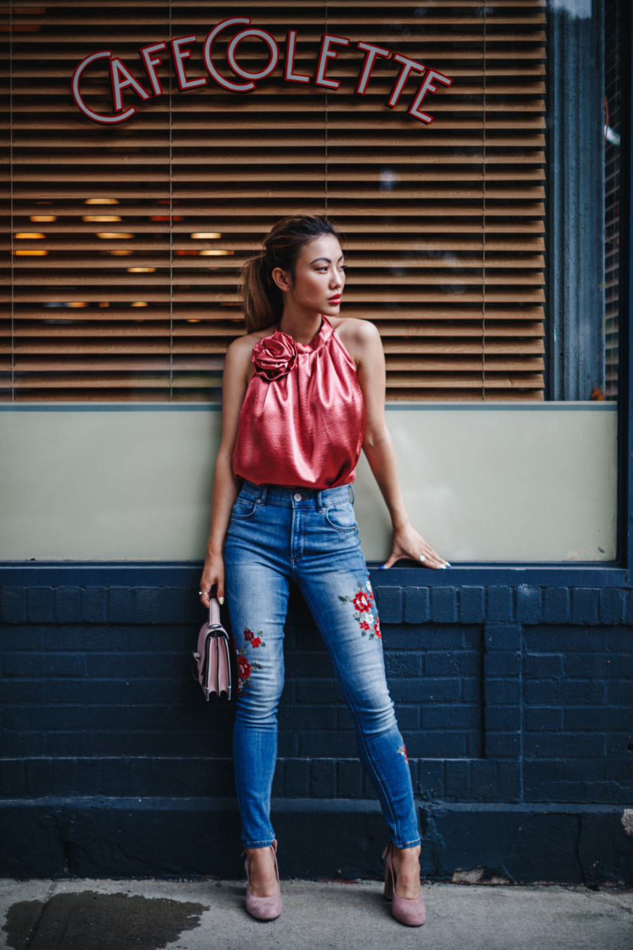 Classic Denim Styles With a Twist - Embroidered jeans // Notjessfashion.com