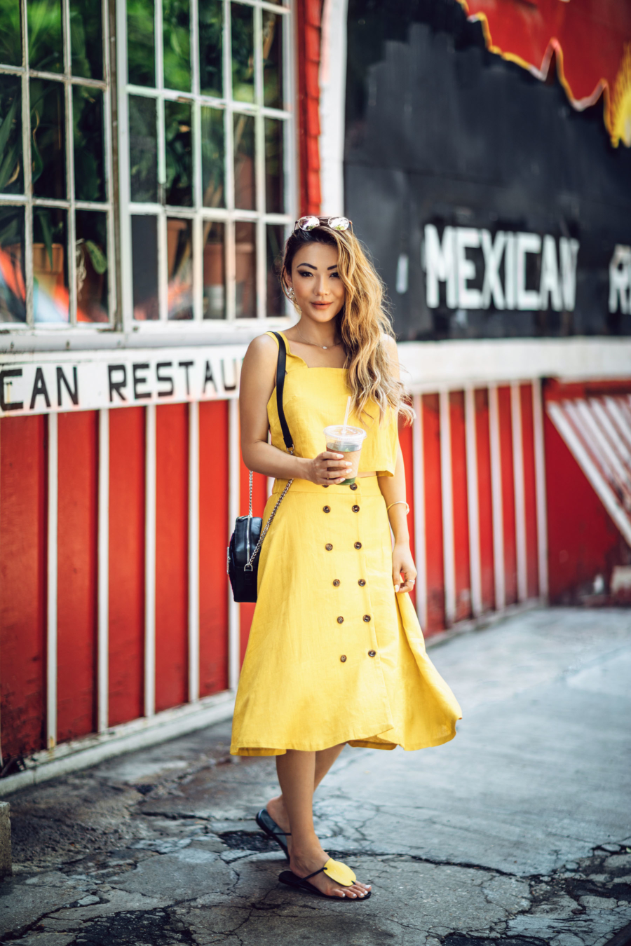 5 Best Colors to Wear This Summer & Stand Out - Yellow button down dress // Notjessfashion.com