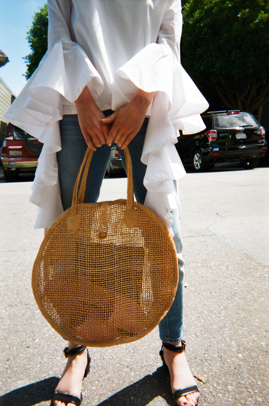 Round Basket Bag - Cute Basket Bags that will Whisk You Away // NotJessFashion.com