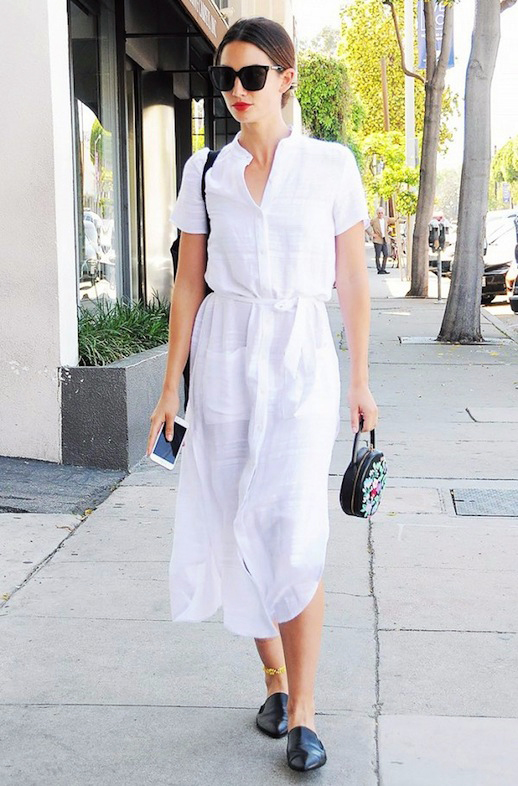 Shirtdress and Pointed Flats - Summer Work Outfits That Won't Make You Break A Sweat // NotJessFashion.com