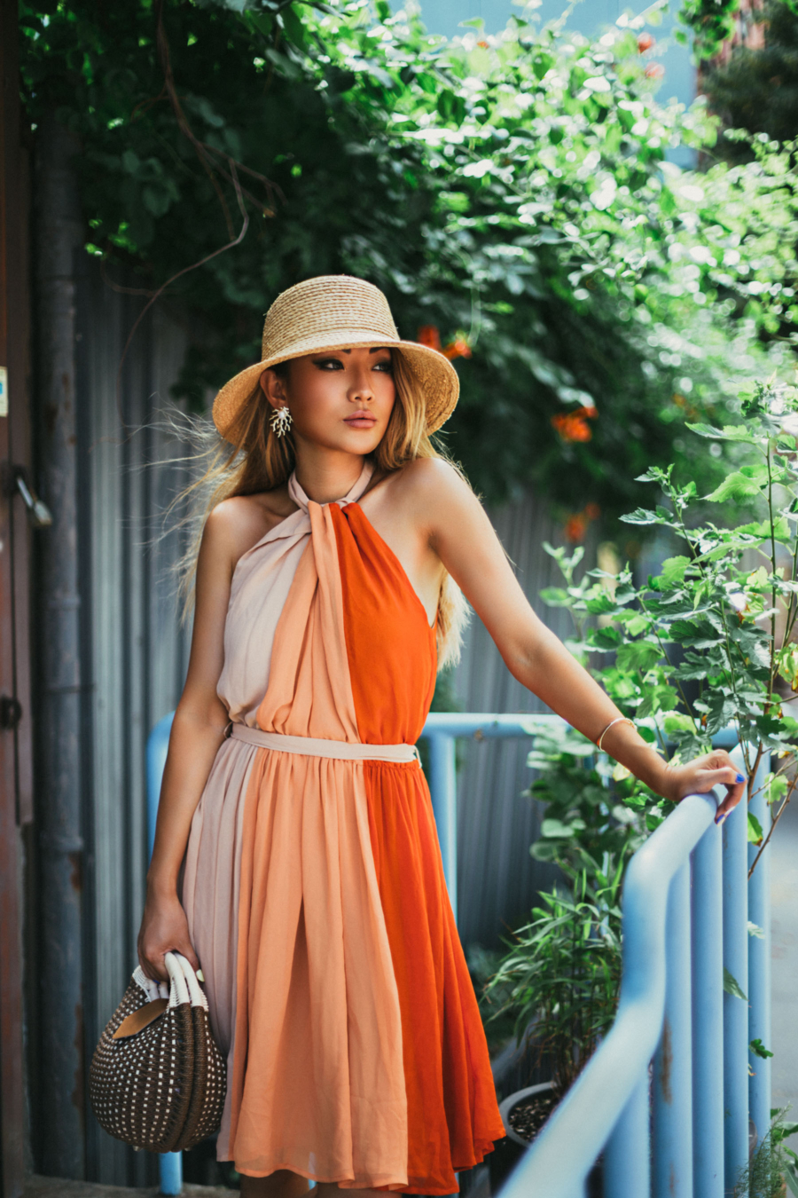 Essential Resort Wear for Your Next Vacation - French Connection Summer Dress, pleated dress, colorblock dress // NotJessFashion.com