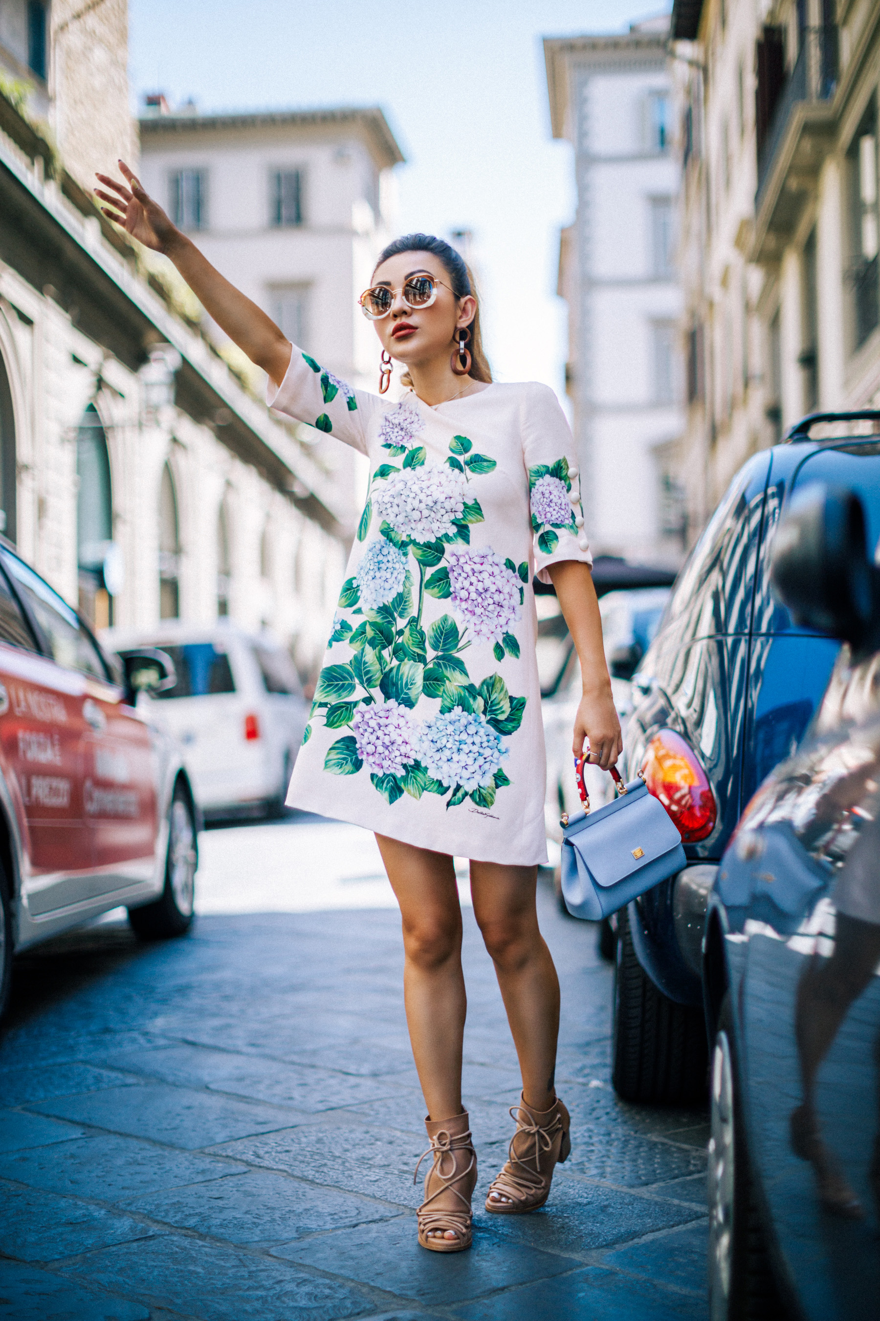 Dolce & Gabbana Hydrangea Shift Dress // NotJessFashion.com