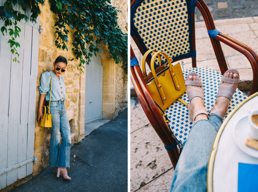 Botkier Sandals and Yellow Bag - Neutral Sandals Comfortable Enough for Anywhere // Notjessfashion.com