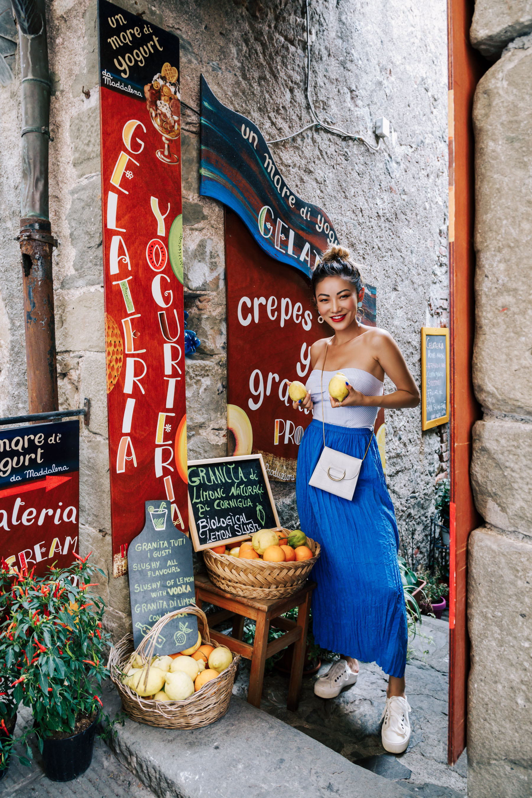 Blue Skirt and Lemon - Instagram Outfits Round Up: Cinque Terre Days // NotJessFashion.com