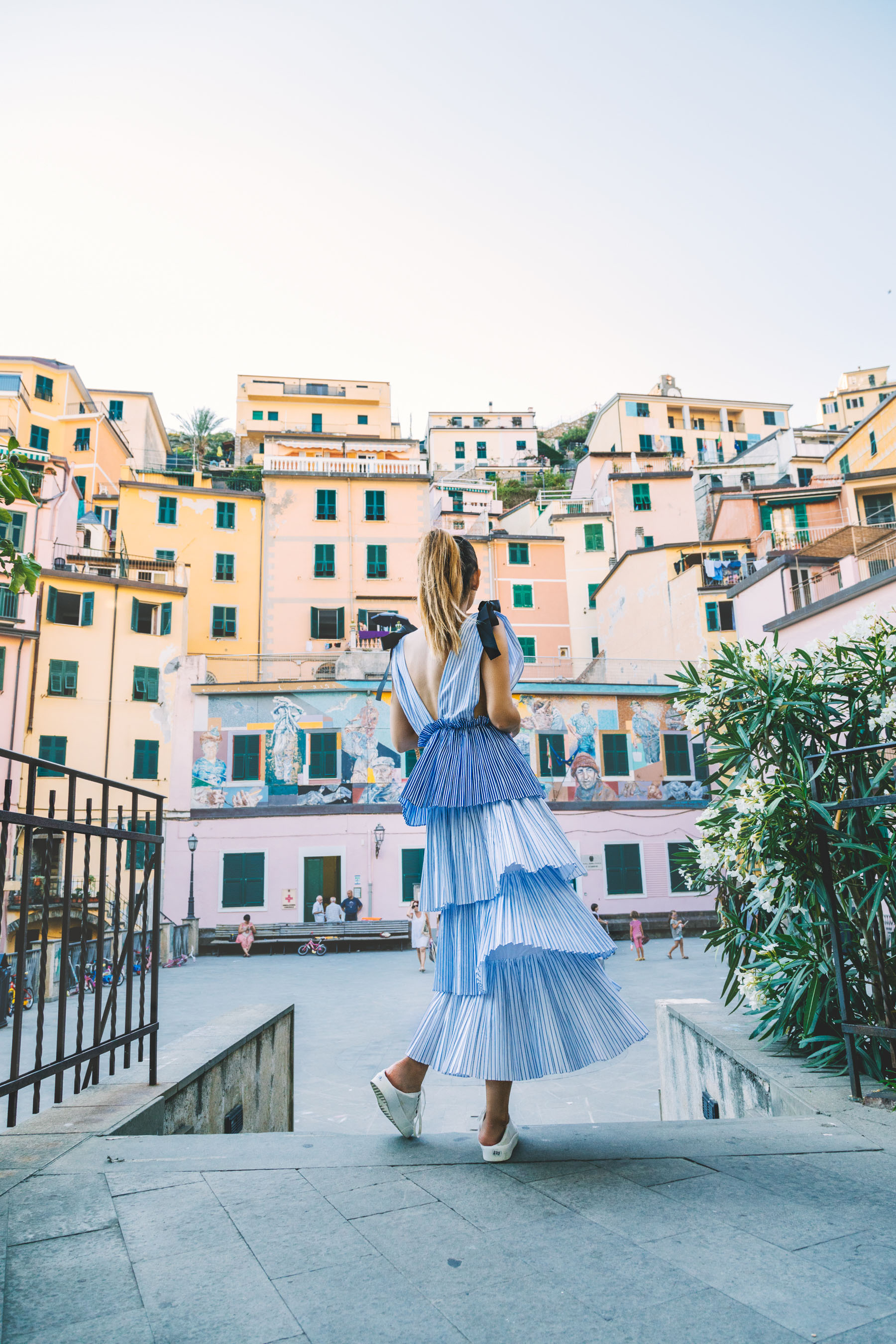 Free People Tiered Dress - Instagram Outfits Round Up: Cinque Terre Days // NotJessFashion.com