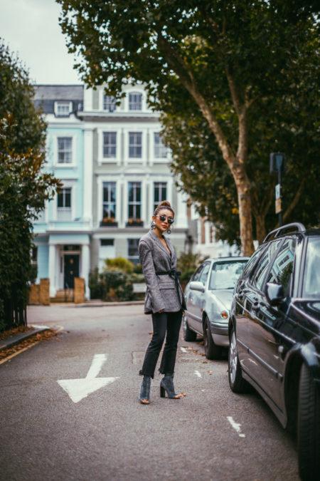 LFW Day 3 Streetstyle plaid blazer // NotJessFashion.com