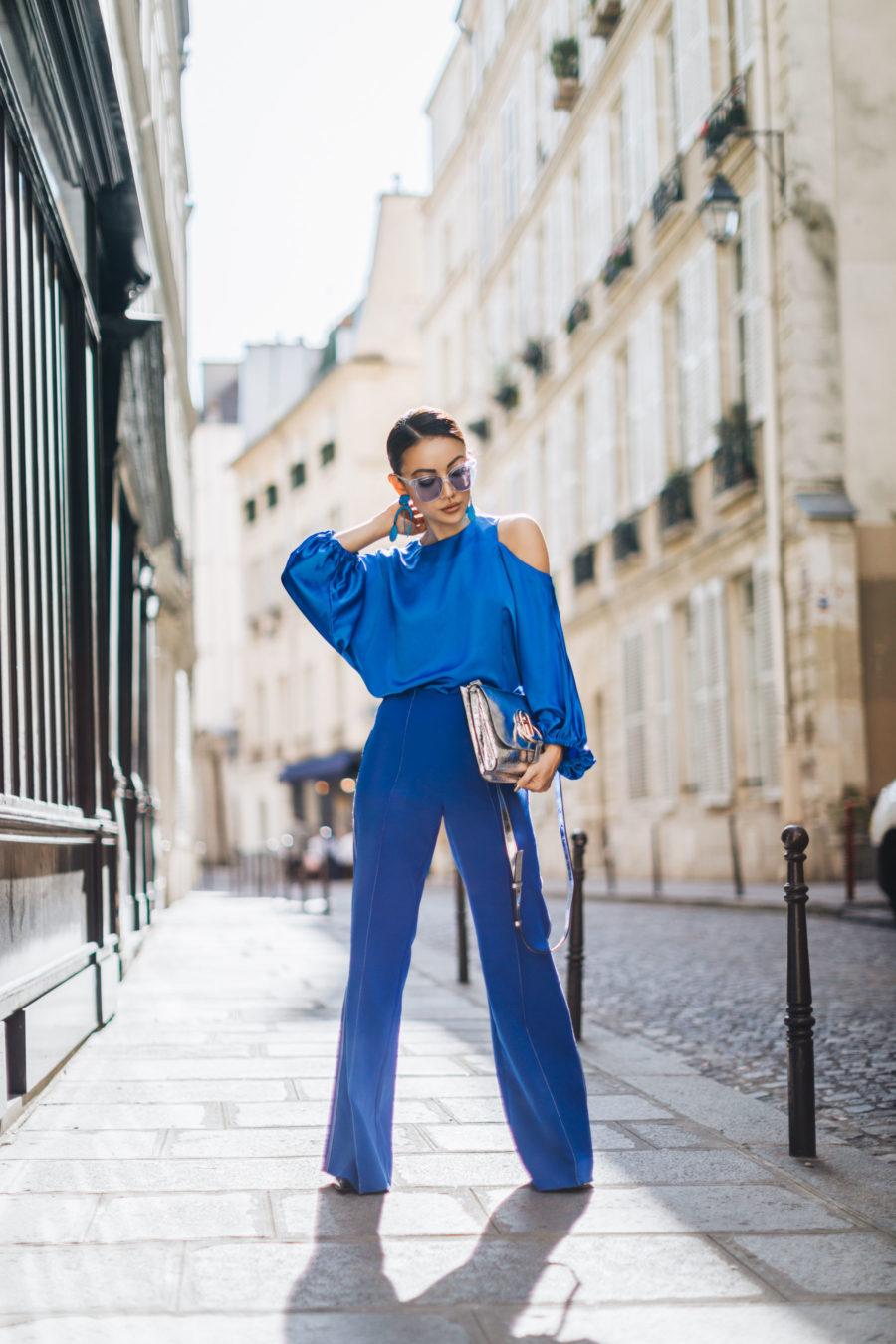 PFW Street Style Blue Monochrome // NotJessFashion.com