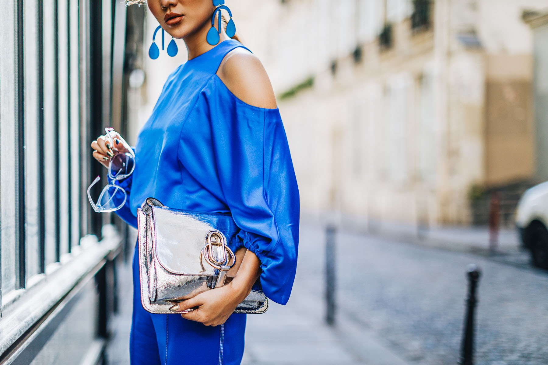 Camera Tips for Fashion Bloggers - PFW Street Style Blue Monochrome // NotJessFashion.com