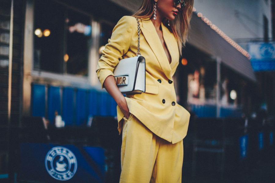 Fashion blogger Notjessfashion shows you how to dress like a fashion icon wearing the powersuit trend // Notjessfashion.com