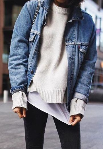 Denim jacket styling for fall // // NotJessFashion.com
