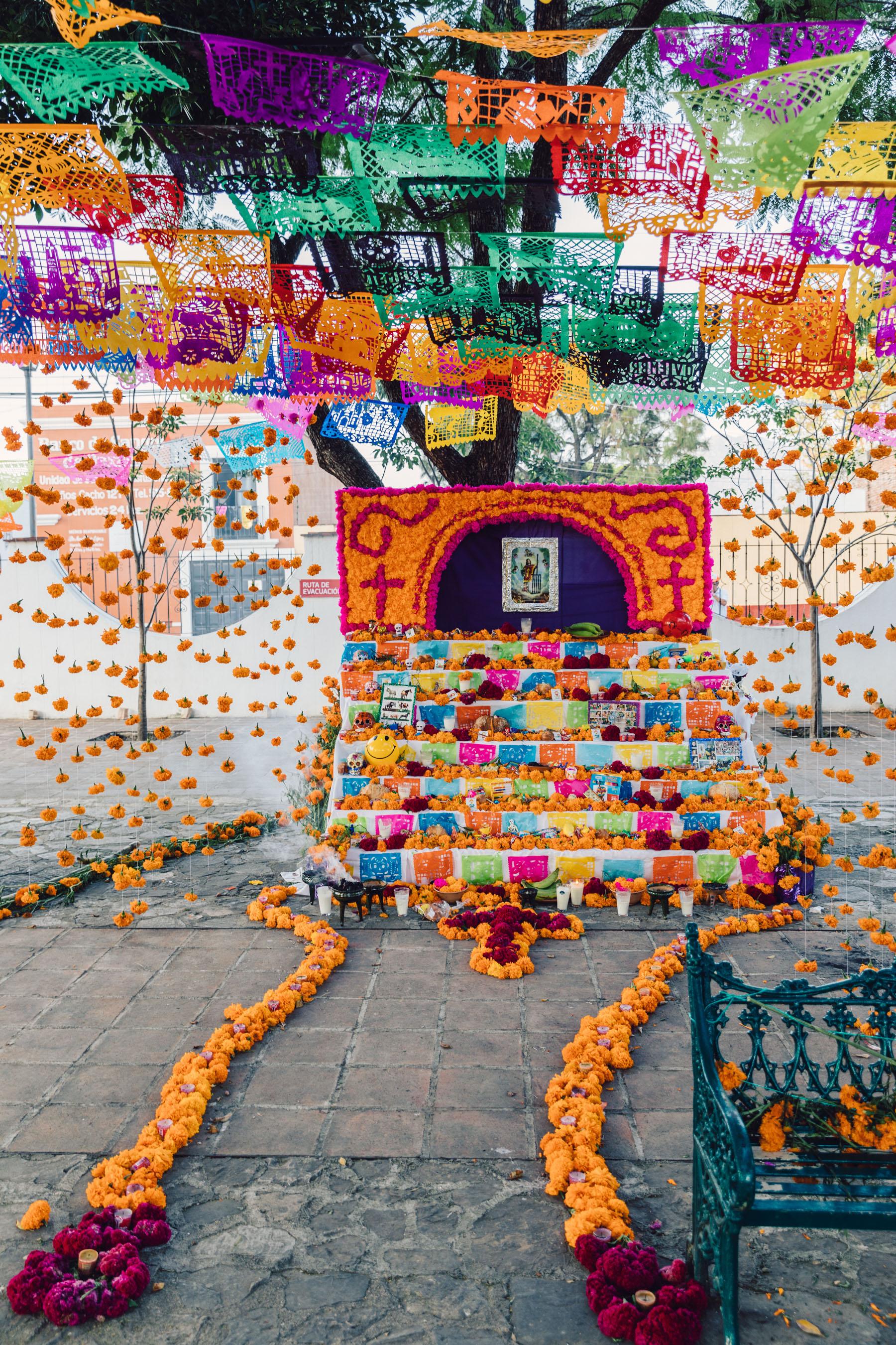 Traditional Altars on Dia de Muertos in Oaxaca // Notjessfashion.com